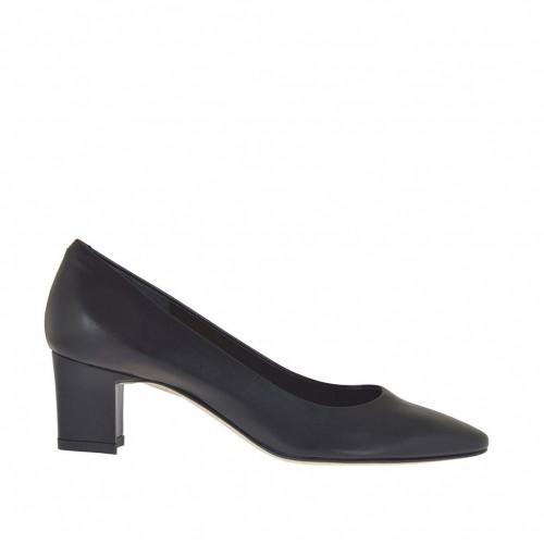 Escarpin pour femmes en cuir noir talon 5 - Pointures disponibles:  43