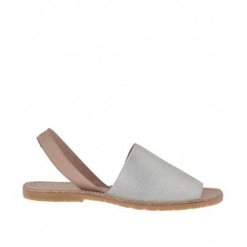 Sandale pour femmes imprimé poudre et argent talon 1 - Pointures disponibles:  32