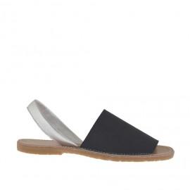Sandalo da donna stampato nero e argento tacco 1 - Misure disponibili: 32, 34, 42