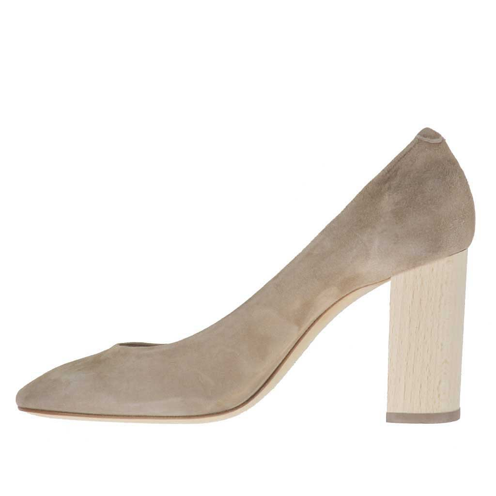 Zapatos Salon Tacon Madera