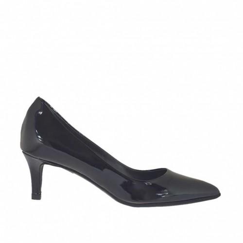 Escarpin pour femmes en cuir verni noir talon 5 - Pointures disponibles:  32, 33