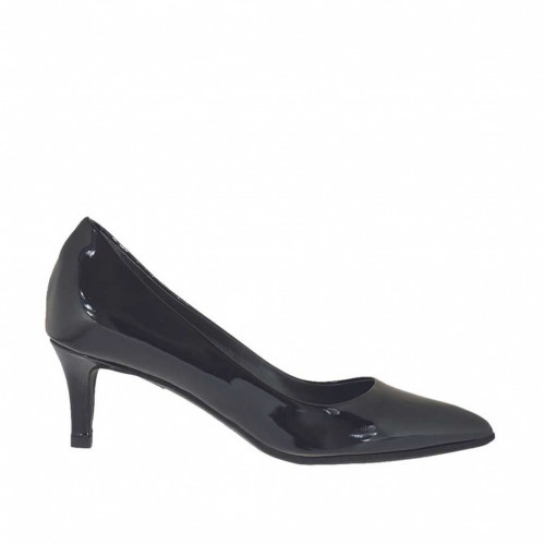 Woman's pump in black patent leather heel 5 - Available sizes:  32, 33