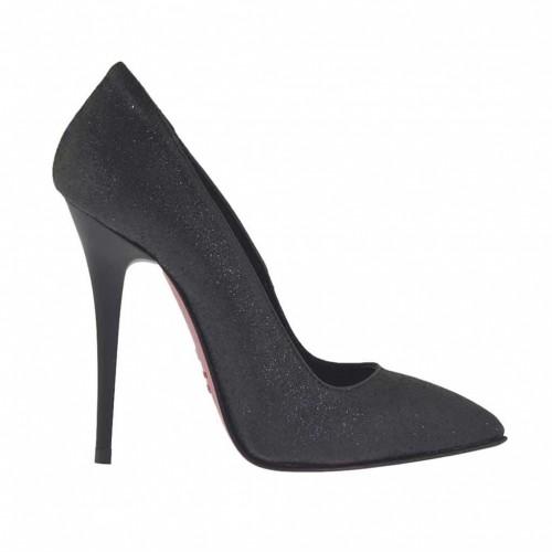 Escarpin noir scintillant pour femmes talon 10 - Pointures disponibles:  32, 42, 43