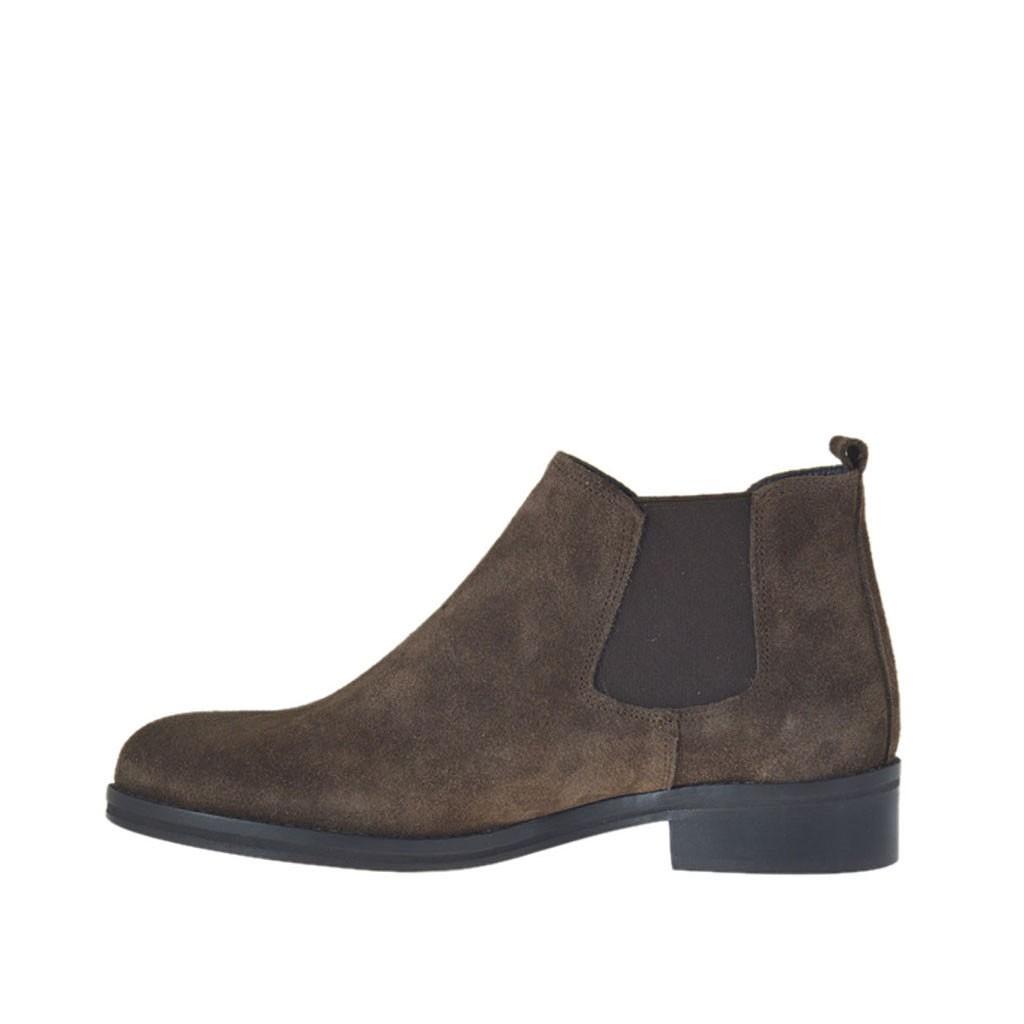 Chaussures à talon avec élastiques Marron yewxmi0VG