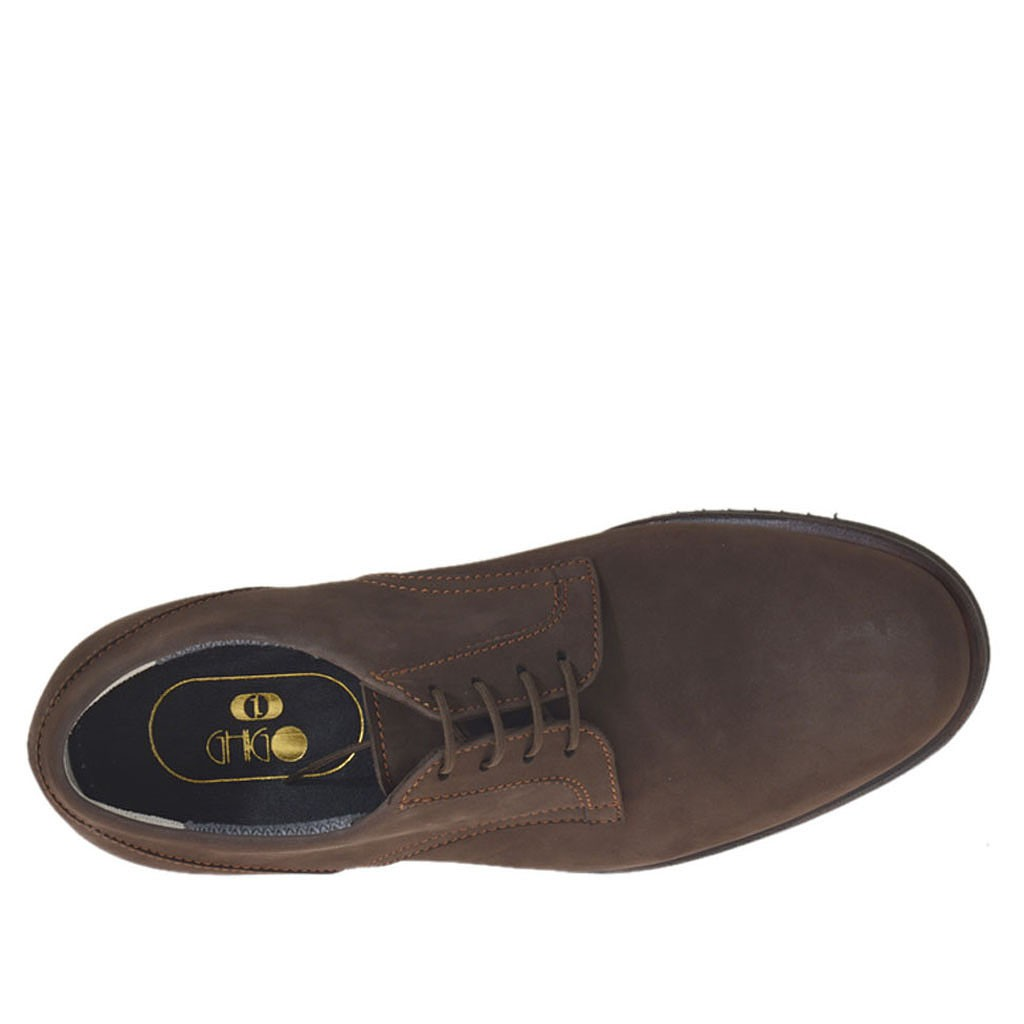 s sports shoe with laces in brown nubuck leather