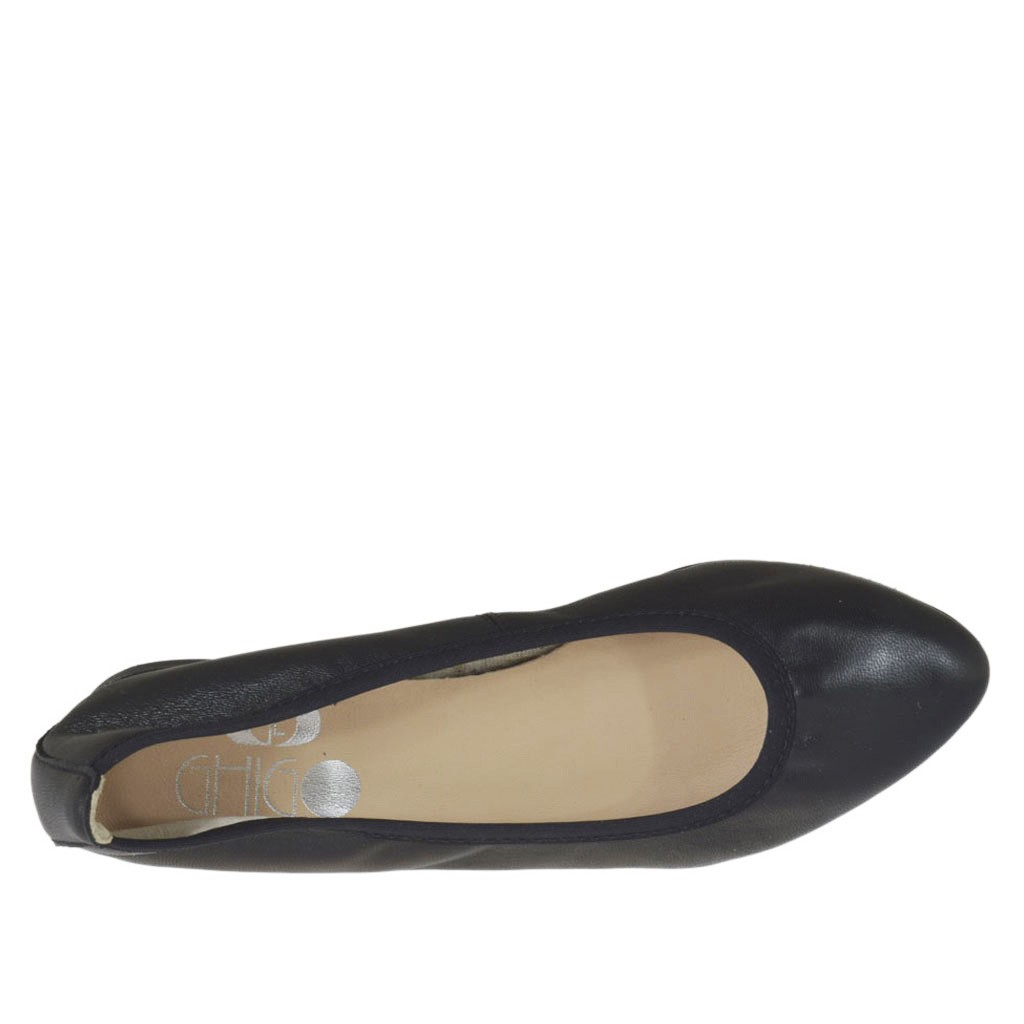 d87a790aab3 ... Bailarina a punta para mujer en piel negra tacon 1 - Tallas  disponibles  32
