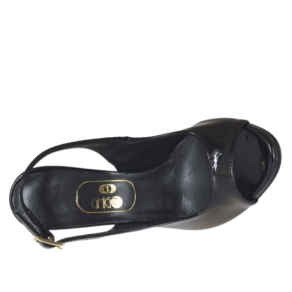 6987dc45d172 ... Woman s platform sandal in black patent leather heel 10 - Available  sizes  31