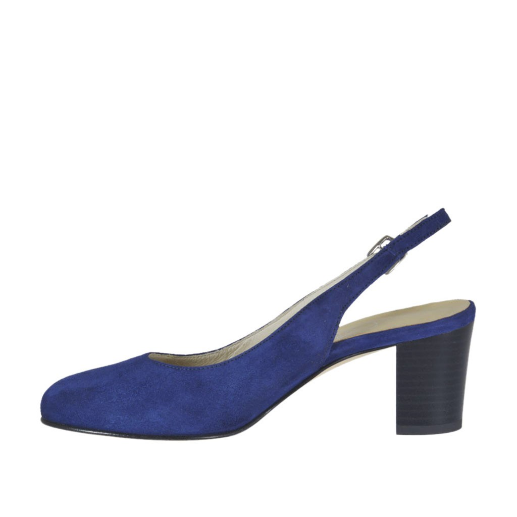 Block Heel Oxford Shoes Women Blue