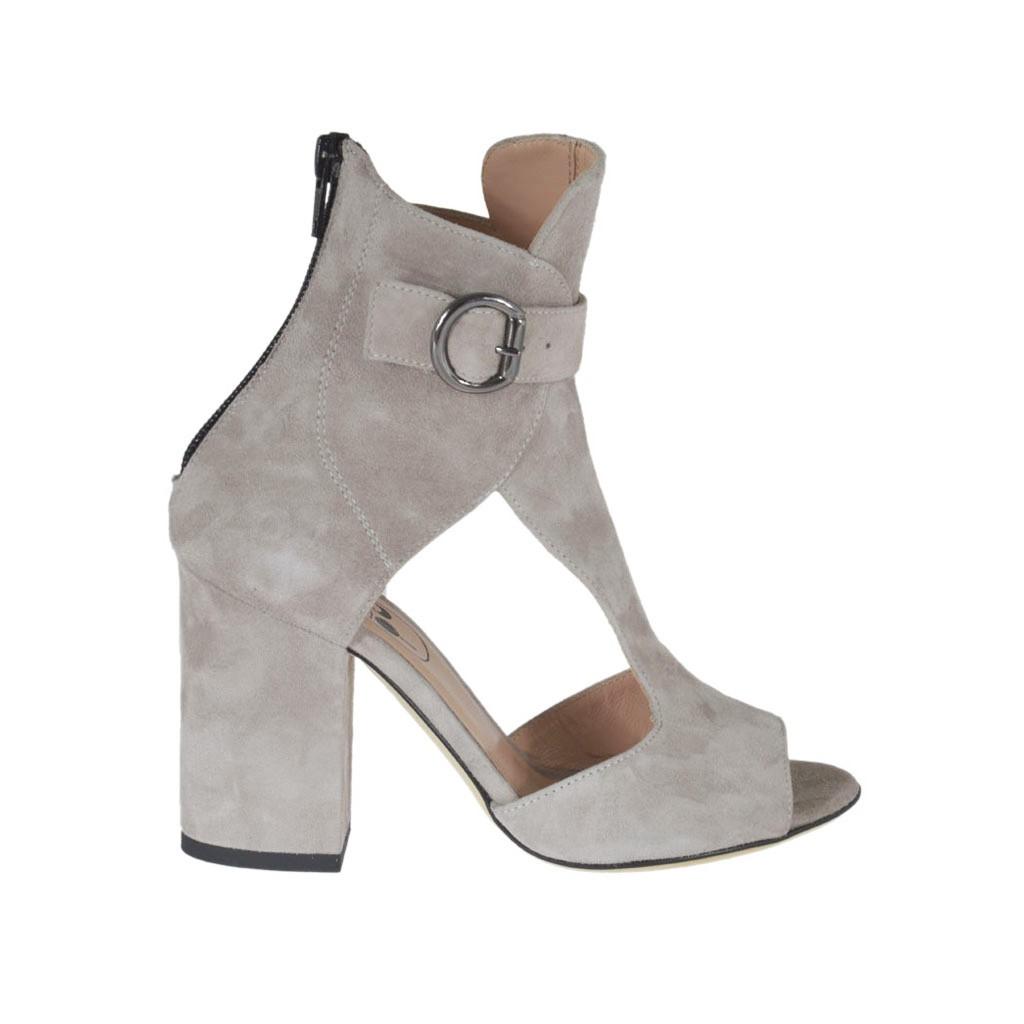 Zapatos grises con cremallera para mujer kfDkDYpvJ