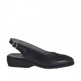 Chanel pour femmes en cuir noir talon 3 - Pointures disponibles:  34