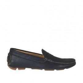 Mocassin sportif pour hommes en cuir noir - Pointures disponibles:  36, 38, 47, 48, 50