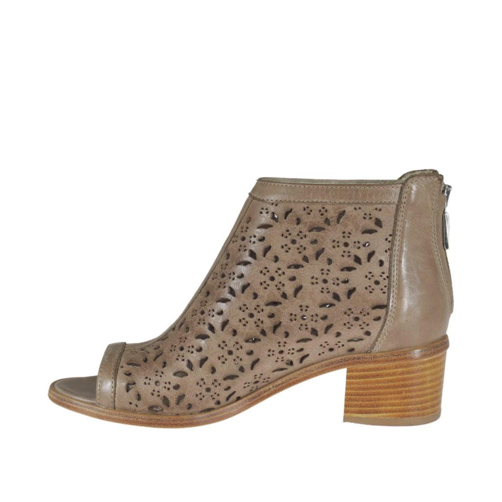 Zapatos grises con cremallera para mujer dUMhP