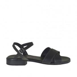 Sandalo nero da donna con cinturino e tacco 2 - Misure disponibili: 46
