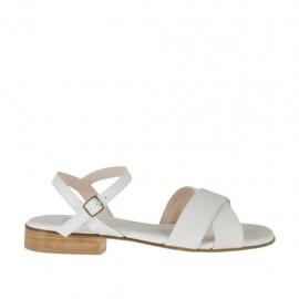 Sandalo bianco da donna con cinturino e tacco 2 - Misure disponibili: 32, 34, 42, 43
