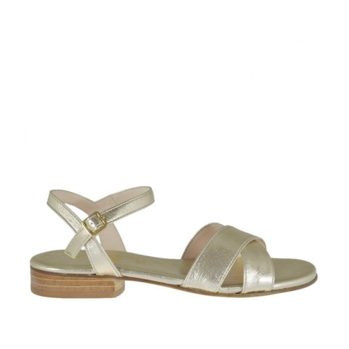 Woman's platinum strap sandal heel 2 - Available sizes:  33, 34, 42, 43, 44, 46