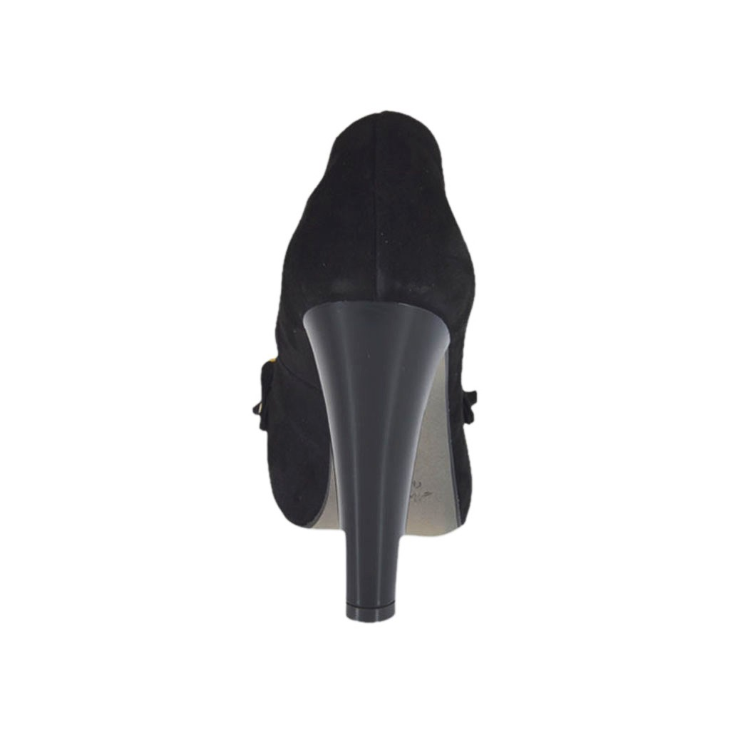 8475fbcbe81c ... Woman s platform shoe with fringes and chain in black suede heel 10 - Available  sizes  ...
