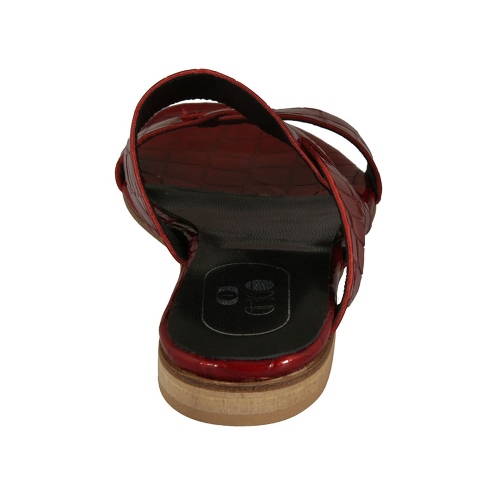 4e79f5035 ... Woman s thong mules in red patent leather heel 1 - Available sizes  33