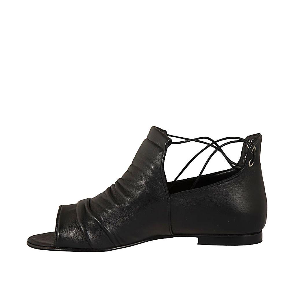 Chaussures de Coll/ège /à lacets en cuir pour femme