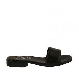 Damenpantolette aus schwarzem Lackleder Absatz 2 - Verfügbare Größen:  32, 42, 43, 46