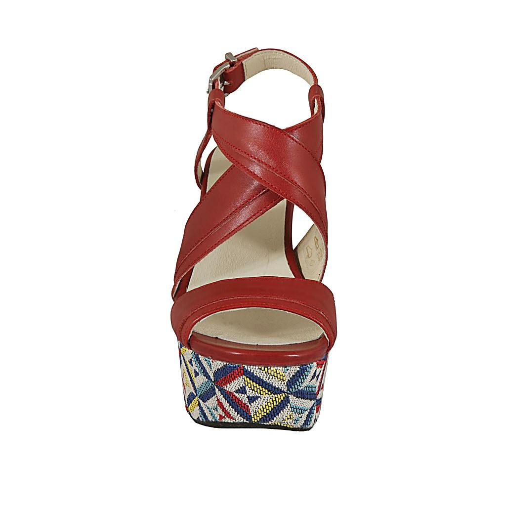 Parte Alta De Frontal Efecto Plataforma Mujer Con Para Sandalia TKuF13lJc
