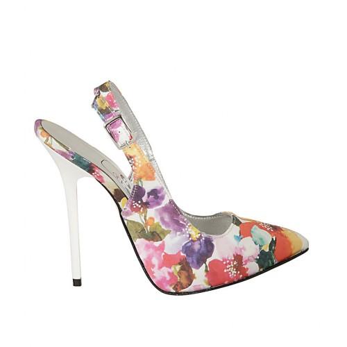multicolored floreal fabric heel 12