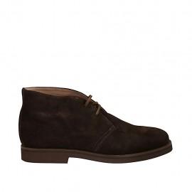 Zapato deportivo para hombre alto al tobillo en gamuza marron - Tallas disponibles:  46, 47, 48, 49, 50, 51, 52
