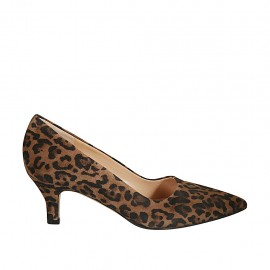 Women's pump shoe in spotted suede heel 5 - Available sizes:  32, 33, 34, 42, 43, 45, 46