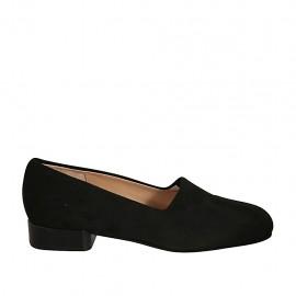 Damenschuh aus schwarzem elastischem Stoff Absatz 2 - Verfügbare Größen:  33, 34, 43, 44