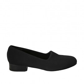 Woman's shoe in black elastic fabric heel 3 - Available sizes:  33, 34, 42, 43, 44, 45