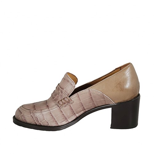 Kelsi Design Imprimé Rembourré Mocassins bronze Carreaux Chaussures Taille 5