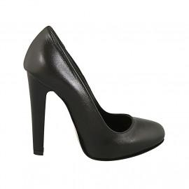 5 38 Chaussures Femmes Chaussures Escarpins Gris Qualité Cuir Rôdeur Largeur K