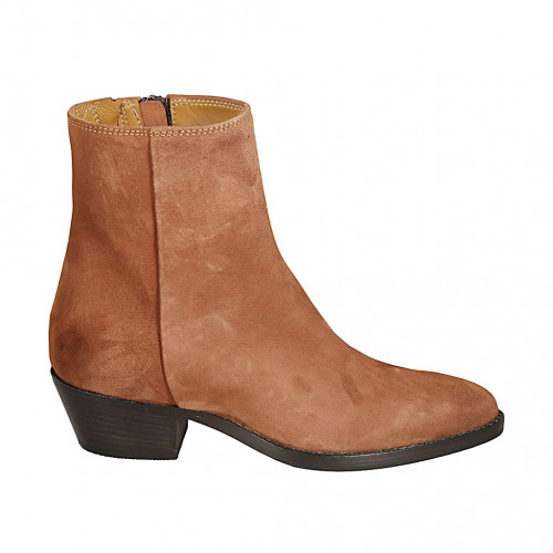 Woman's Texan ankle boot with zipper...